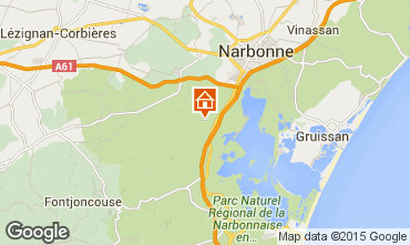 Map Narbonne Apartment 41818