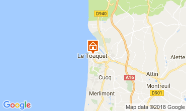 Map Le Touquet Studio apartment 114481