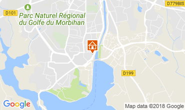 Map Vannes Self-catering property 113554