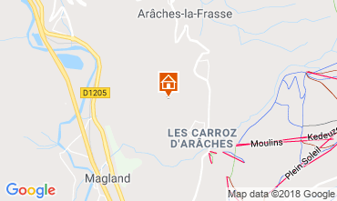 Map Les Carroz d'Araches Apartment 80329