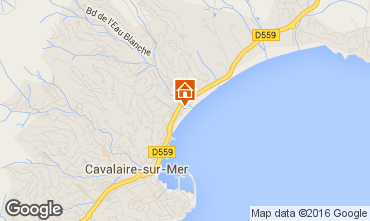 Map Cavalaire-sur-Mer Apartment 102534