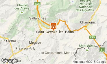 Map Saint Gervais Mont-Blanc Apartment 2553