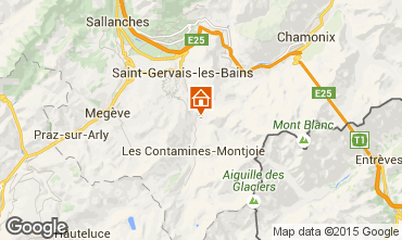 Map Les Contamines Montjoie Chalet 980
