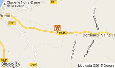 Map Etretat Self-catering property 60555