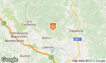 Map Arezzo Self-catering property 57056