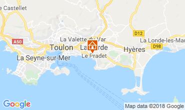 Map Le Pradet Studio apartment 117241