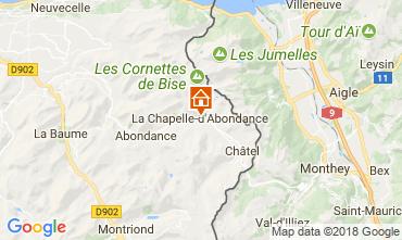 Map La Chapelle d'Abondance Apartment 115949