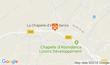 Map La Chapelle d'Abondance Apartment 115949