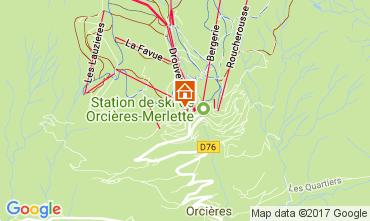 Map Orcières Merlette Apartment 2028