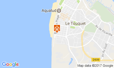 Map Le Touquet Studio apartment 7768
