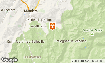 Map Courchevel Apartment 92511