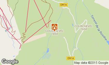 Map Courchevel Apartment 92511