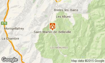 Map Saint Martin de Belleville Chalet 2650