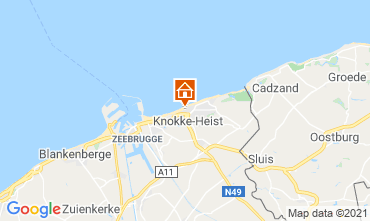 Map Knokke-le-Zoute Studio apartment 109423