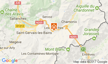 Map Chamonix Mont-Blanc Apartment 68975