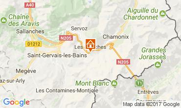 Map Chamonix Mont-Blanc Apartment 68975
