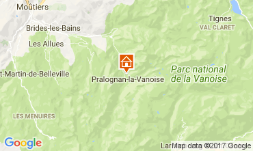 Map Pralognan la Vanoise Apartment 52387