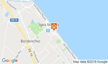 Map Bellaria Igea Marina Apartment 70343