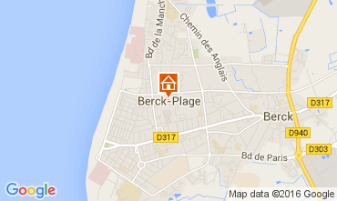Map Berck-Plage Apartment 104236