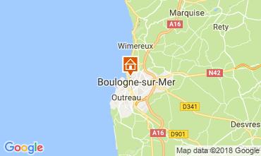 Map Boulogne/mer Studio apartment 114498