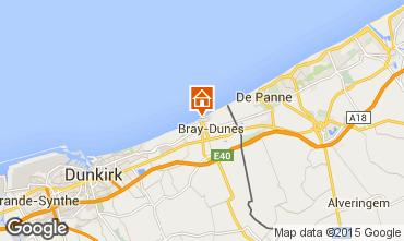Map Bray-Dunes Studio apartment 8904