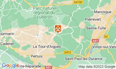 Map La Tour d'Aigues Self-catering property 92728