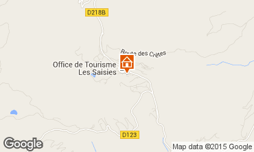 Map Les Saisies Apartment 65900