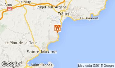 Map Les Issambres Studio apartment 5625