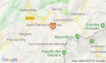 Map Saint-Gervais-les-Bains Self-catering property 117570