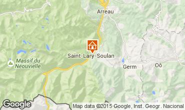 Map Saint Lary Soulan Apartment 19638