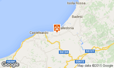 Map Valledoria Apartment 95541