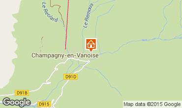 Map Champagny en Vanoise Apartment 588