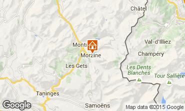 Map Morzine Apartment 42696