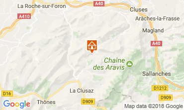 Map Le Grand Bornand Apartment 114978