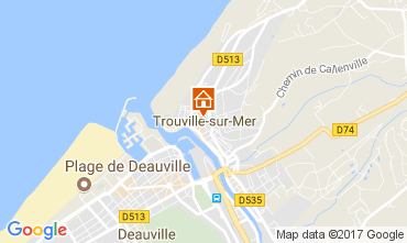 Map Trouville sur Mer Apartment 112240