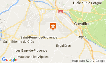 Map Saint Rémy de Provence Self-catering property 107964