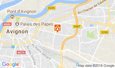 Map Avignon Apartment 115919