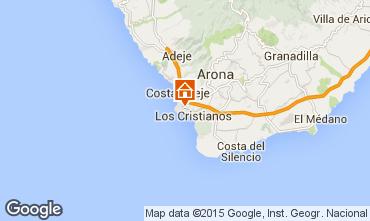 Map Los Cristianos Studio apartment 77464