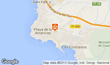 Map Los Cristianos Studio apartment 77464