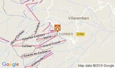 Map Le Corbier Studio apartment 1054