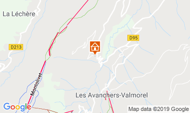 Map Valmorel Self-catering property 108304