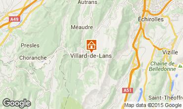 Map Villard de Lans - Corrençon en Vercors Apartment 32977