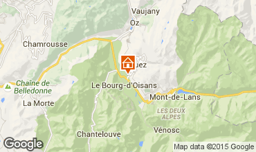 Map Alpe d'Huez Studio apartment 58962