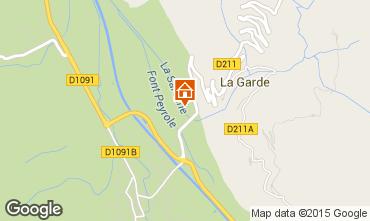 Map Alpe d'Huez Studio apartment 58962