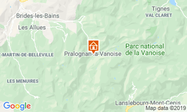 Map Pralognan la Vanoise Apartment 2280