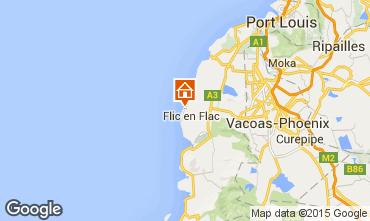 Map Flic-en-Flac Studio apartment 81620