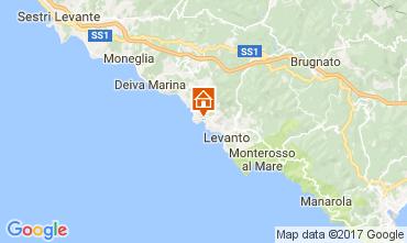 Map Bonassola Studio apartment 110610