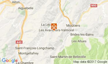 Map Valmorel Studio apartment 111660