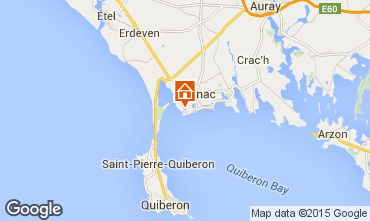 Map Carnac Apartment 82528