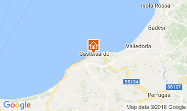 Map Castelsardo Apartment 115440